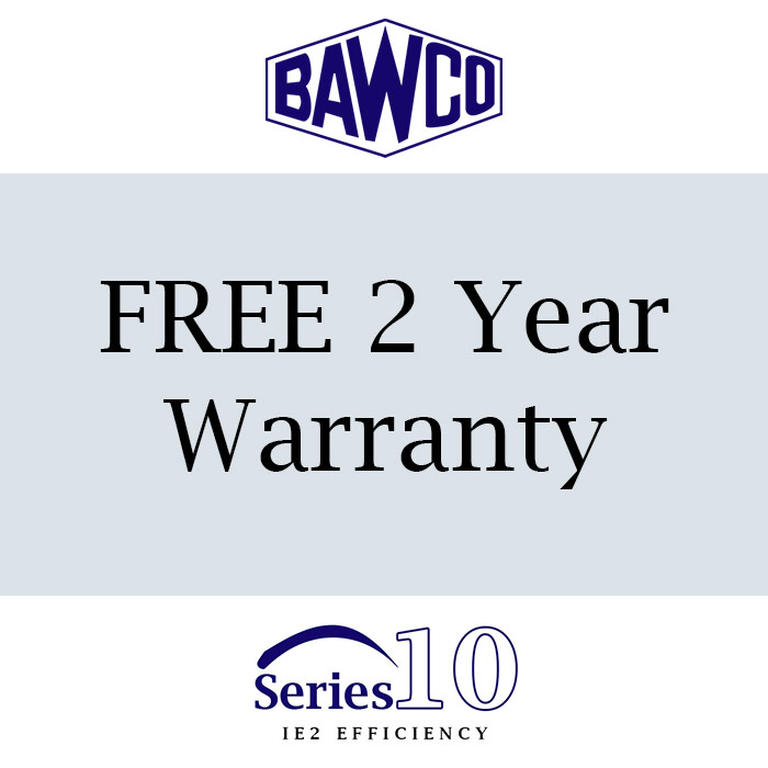 BAWCO will provide you with a FREE 2 year warranty with this motor when you buy with us.