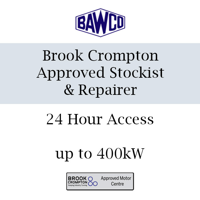 We are specialists in Brook Crompton and can provide you with super-fast access to Brook Crompton motors. We stock and repair these motors with 24 hours access up to 400kw.