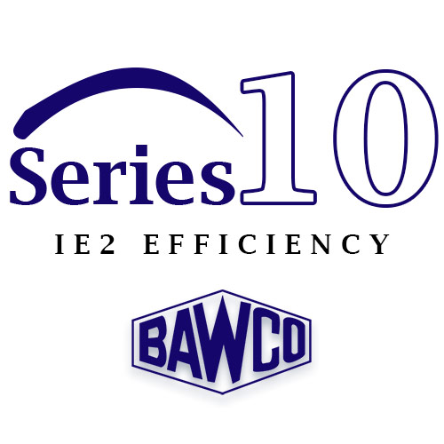 A series 10 IE2 efficiency motor provided by BAWCO.