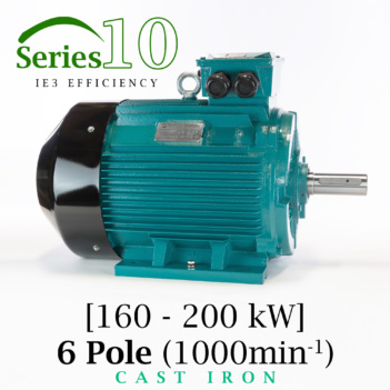 Brook Crompton Series 10 IE3 6 Pole Cast Iron Electric Motor supplied by BAWCO.