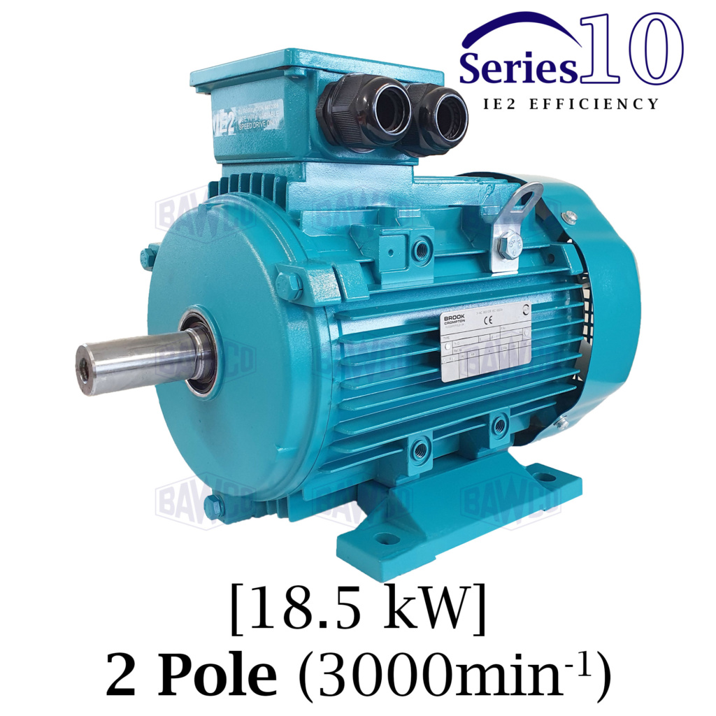 Brook Crompton Series 10 IE2 2 Pole Aluminium Electric Motor supplied by BAWCO.