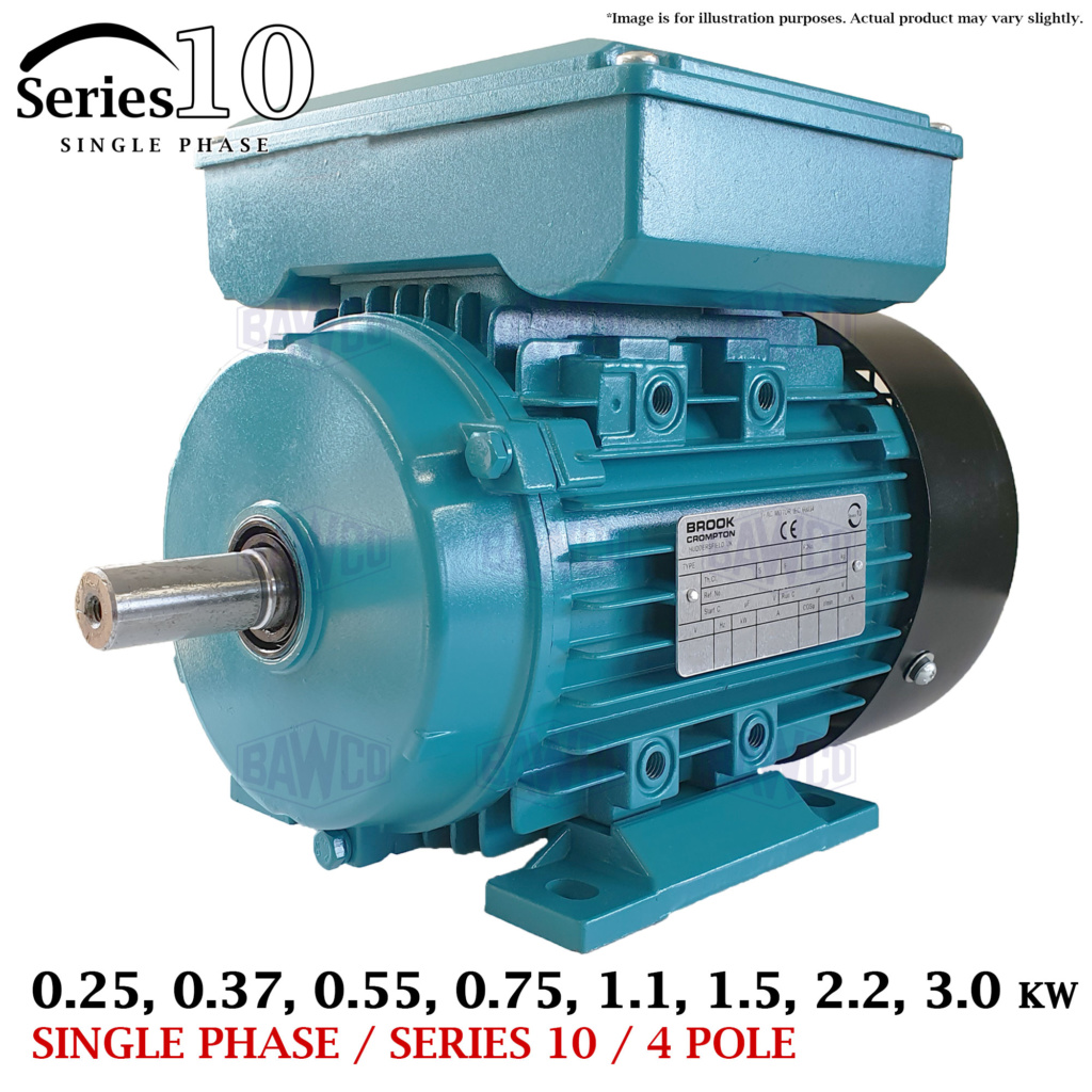Brook Crompton Series 10 Single Phase Motor supplied by the Bradford Armature Winding Company.