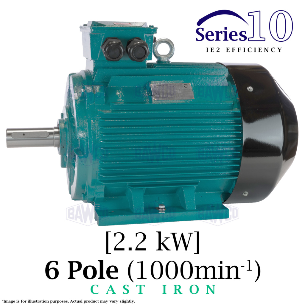 Brook Crompton Series 10 IE2 Cast Iron Electric Motor supplied by BAWCO.