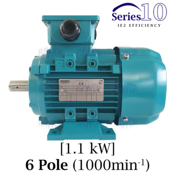 Brook Crompton Series 10 IE2 6 Pole Aluminium Electric Motor supplied by BAWCO.